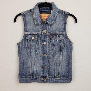 Women's Levi's Authentic Jean Vest Size Small